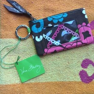 (NWT) Vera Bradley ZIP ID Case (Lola) Multi Color